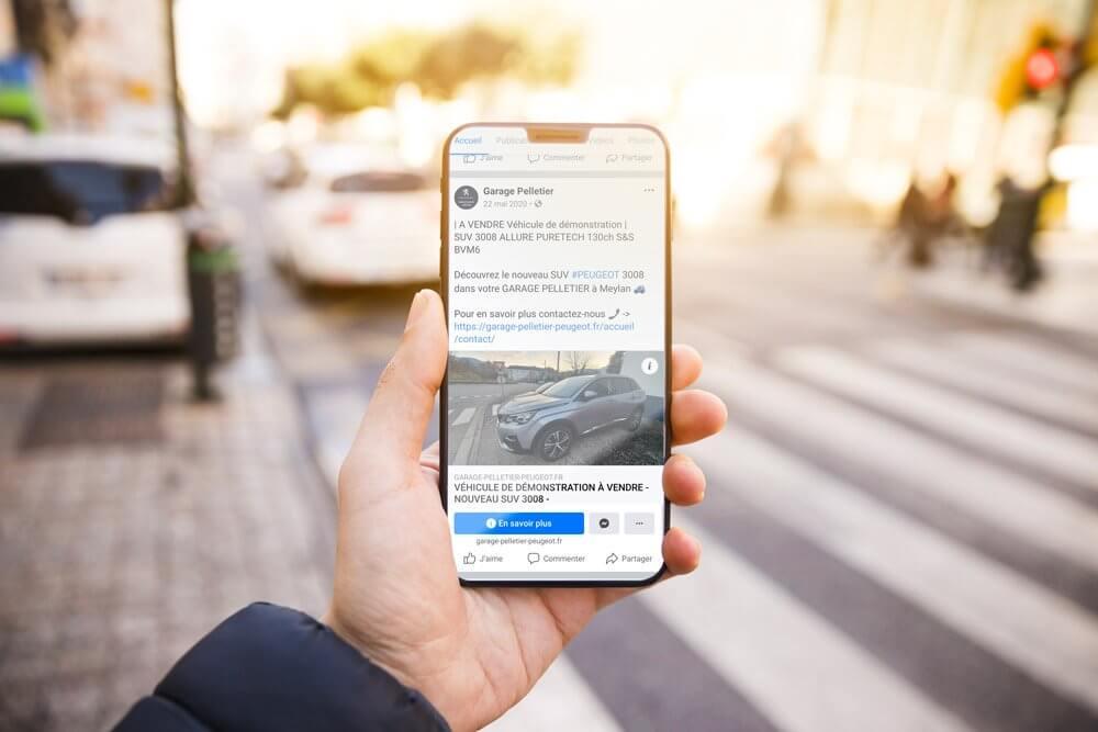 Communication sur les réseaux sociaux pour Garage Pelletier