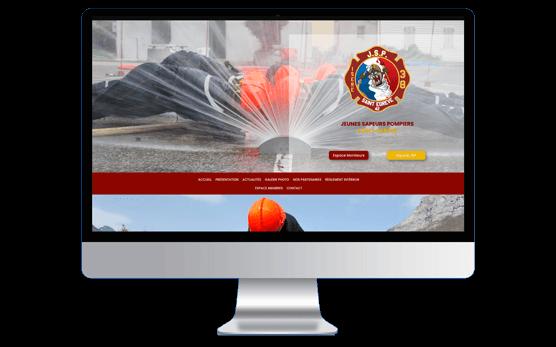 Mockup de la page d'accueil des JSP de St Egrève